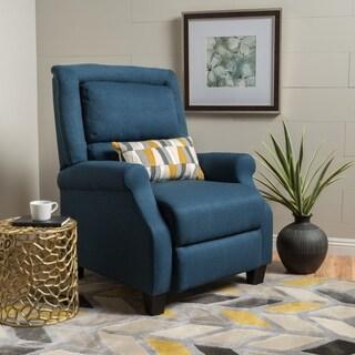 Reddington Blue Fabric Reclining Club Chair by Christopher Knight Home