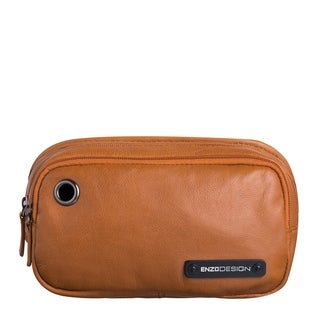 EnzoDesign Cowhide Leather Waist Bag