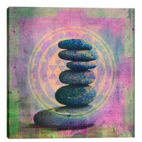 "Epic Graffiti ""Soul In Balance"" by Elena Ray Giclee Canvas Wall Art, 12""x12"" - 12"" x 12"""