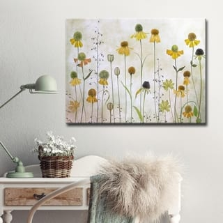Helenium' Floral Wrapped Canvas Wall Art