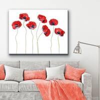 Ready2HangArt 'Ladybird Poppies' Canvas Wall Décor - Red