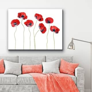 Ladybird Poppies' Floral Wrapped Canvas Wall Art