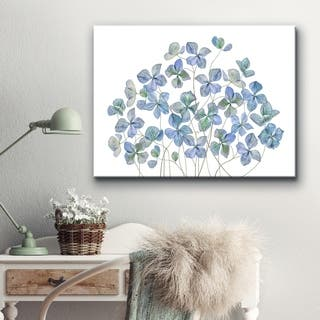 Hydrangea I' Floral Wrapped Canvas Wall Art