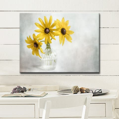 Rudbeckia' Floral Wrapped Canvas Wall Art