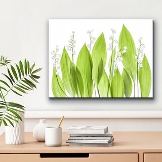 Ready2HangArt 'Lilly of the Valley' Canvas Wall Décor - Green