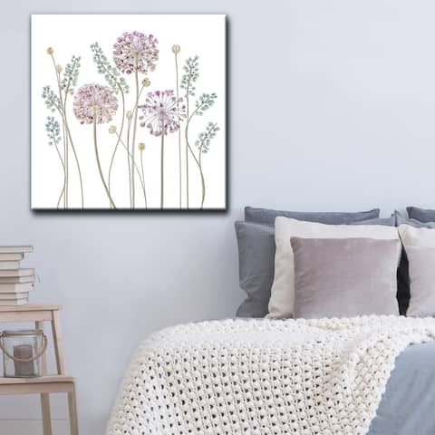 Allium' Floral Wrapped Canvas Wall Art