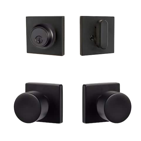 Sure-Loc Bergen Modern Series Entry Knobset with Square Rosette