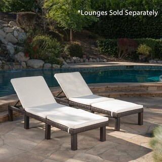 Jamaica Outdoor Water Resistant Chaise Lounge Cushion (Set of 2) by Christopher Knight Home