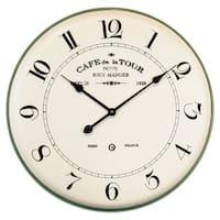 "Yosemite Home Décor ""French Café"" Wall Clock - N/A"