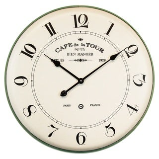"Yosemite Home Décor ""French Café"" Wall Clock"