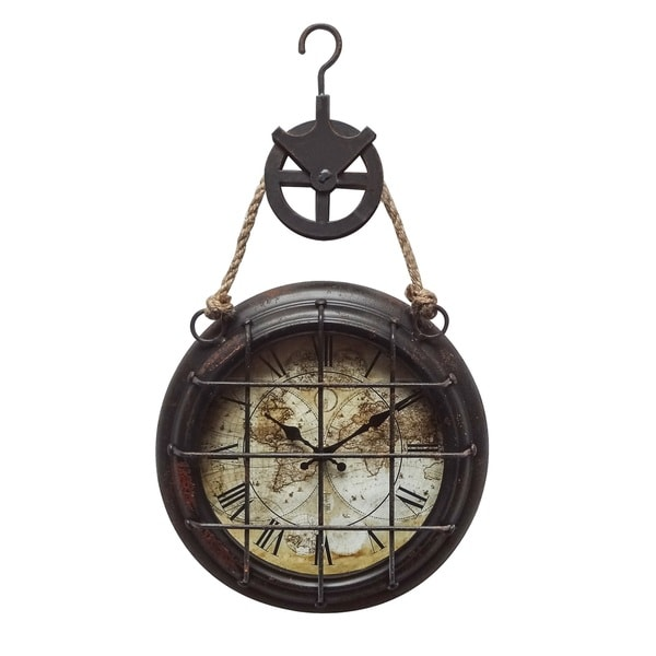 "Yosemite Home Décor ""Dockyard"" Wall Clock"