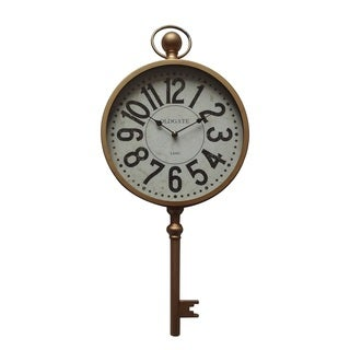 "Yosemite Home Décor ""Time Key"" Wall Clock - N/A"