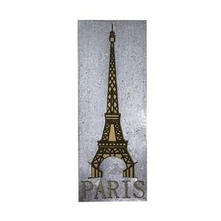 Sagebrook Home 10971 Metal Paris Wall Art, Gray Metal, 11.75 x 1.25 x 13.5 Inches