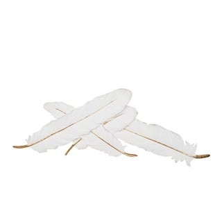 Link to Sagebrook Home 12160-05 Decorative Resin Wall Feathers White/Gold Polyresin, 27 x 10.25 x 1.75 Inches Similar Items in Wall Sculptures