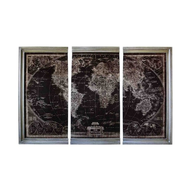 Shop sagebrook home 12672 triptych antique world map wall decor wood sagebrook home 12672 triptych antique world map wall decor wood 47 x 2 x 2475 gumiabroncs Gallery