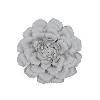 Sagebrook Home 13006-01 Porcelain Flower Wall Decor, White Porcelain, 12 x 12 x 3.25 Inches