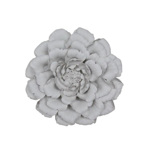 Sagebrook Home 13006 01 Porcelain Flower Wall Decor White 12 X