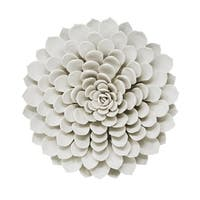 Sagebrook Home 13006-02 Porcelain Flower Wall Decor, White Porcelain, 12.5 x 12.5 x 2.5 Inches