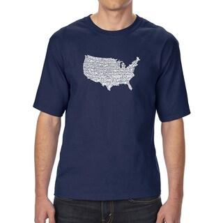 LA Pop Art Men's Tall Word Art T-shirt - THE STAR SPANGLED BANNER