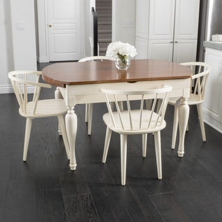 Hayward Spindle 5-piece Wood Dining Set with Drop Leaf Extension by Christopher Knight Home