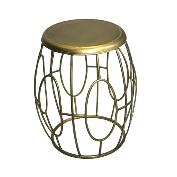 Sagebrook Home FM10412-01 Metal Accent Table, Gold Metal, 18 x 18 x 20 Inches
