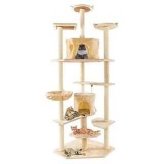 """80"""" Solid Cute Sisal Rope Plush Cat Climb Tree Cat Tower Funiture"""