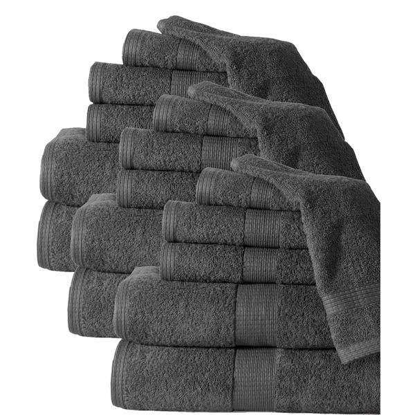 e17218c8b8b1 Shop Casa Platino Plush 100% Cotton 600GSM Bath Towel Set (18-Piece ...
