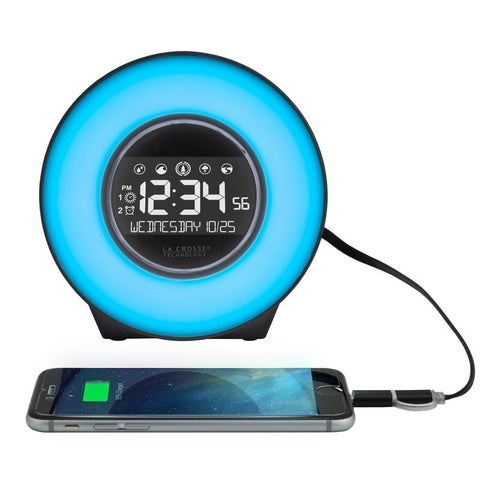 La Crosse Technology C85135 Mood Light and Nature Sound Alarm Clock