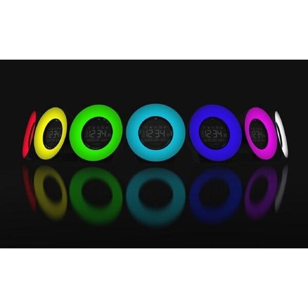 La Crosse Technology Color Mood Light Alarm Clock with Nature Sounds C85135
