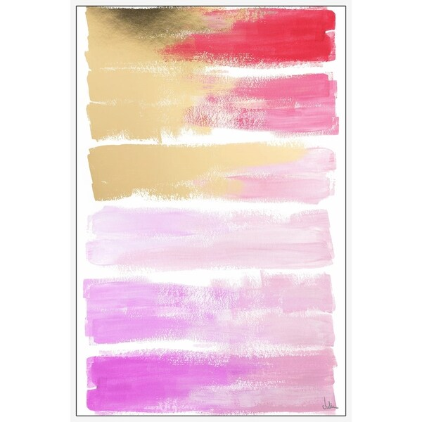 Marmont Hill - Handmade Shades of Pink Floater Framed Print on Canvas