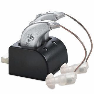 MEDca Hearing Amplifier Enhancer Rechargeable Personal Noise Reducing Behind the Ear Sound Amplification Sound Mini Size Device