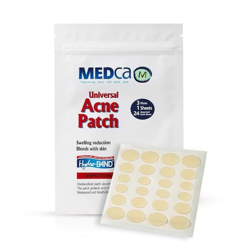 MEDca Universal Acne Pimple Spot Master Patch Blackhead Removing Absorbing Treatment Cover Ultra Deep Cleansing 3 Sizes 24 Count