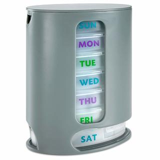 MEDca Weekly Pill Organize 1 Dispenser 7 Stackable Compartments Four Times