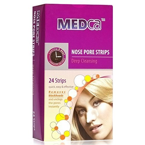 MEDca Most Trusted Blackhead Removing Pore Unclogging Acne | Ultra Deep  Cleansing Nose Pore Strip Face Chin Oil Free 24 Count