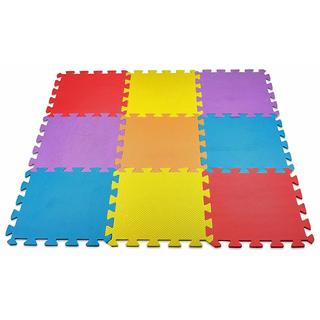 MEDca Floor Play Mat EVA Interlocking Assorted Soft Colors
