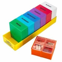 MEDca Detachable Weekly Pill Organizer with 4 Sections