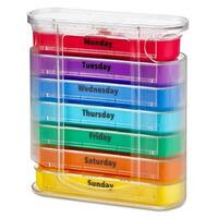 MEDca Weekly Pill Organizer Four Dispenser with Stackable