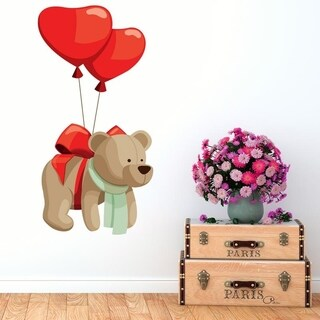"Teddy Bear Toys Baloon Full Color Wall Decal Sticker K-1173 FRST Size 30""x47"""