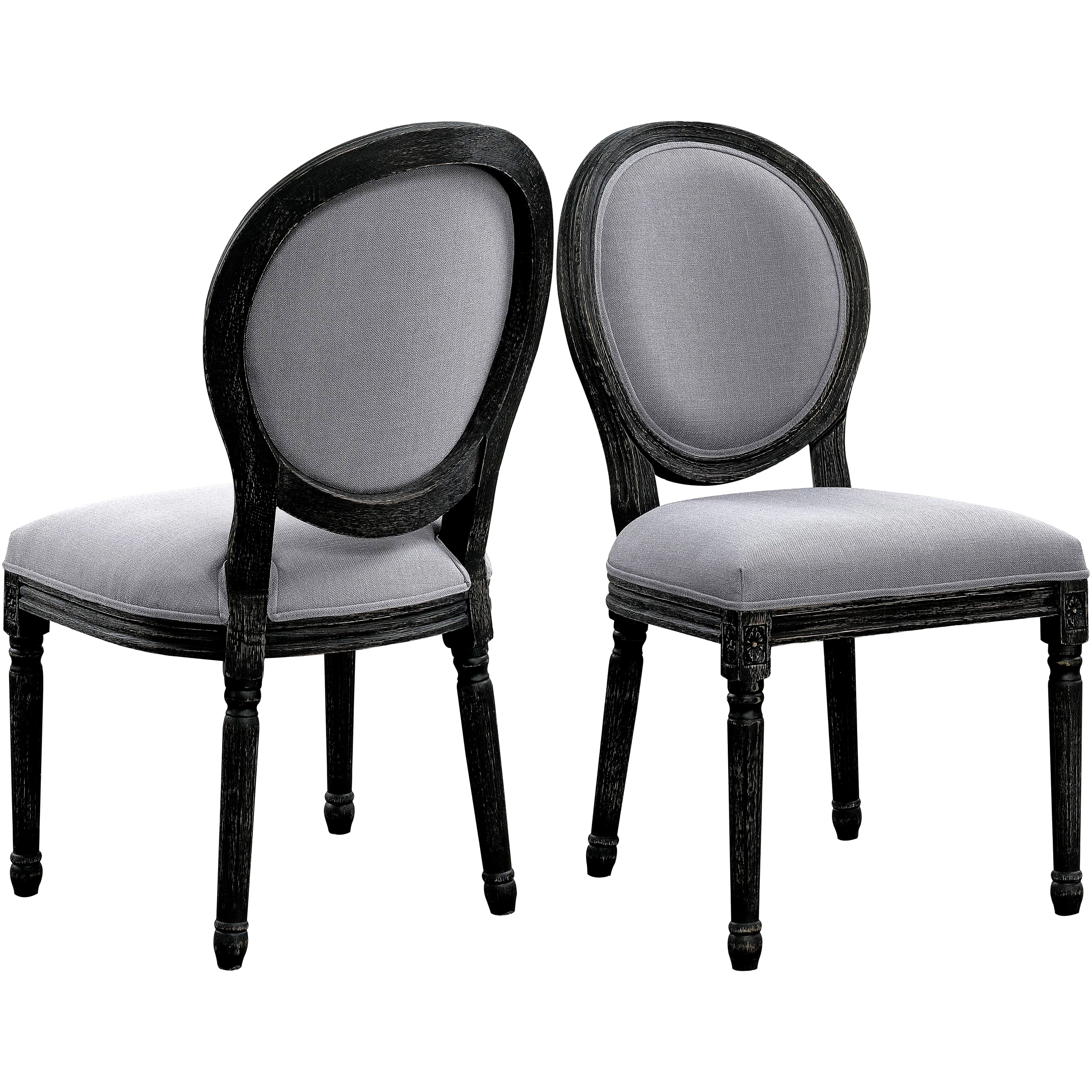 Vintage french design oval back dining chairs set of 2