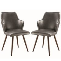 Modern Demi Design Charcoal Arm Chairs (Set of 2)