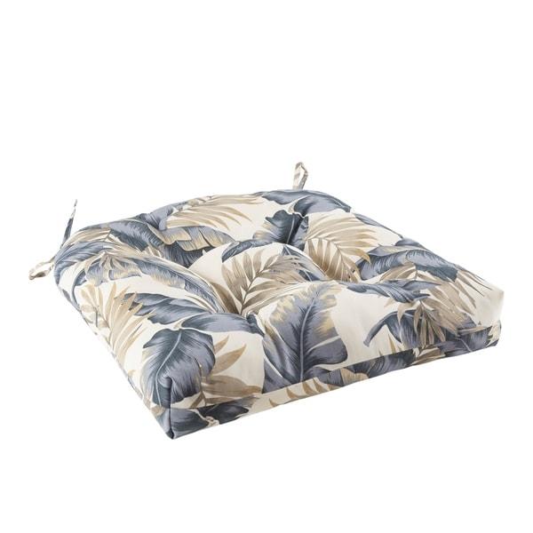Madison Park Meeru Printed Leaf 3M Scotchgard Outdoor Seat Cushion