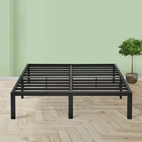 Sleeplanner 14 Inch Platform Easy Assembly Steel Bed Frame with Upgraded Frame Construction Queen Size