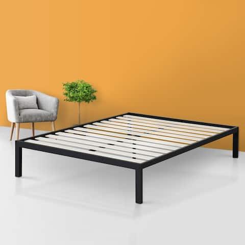 Sleeplanner 14 Inch Platform Metal Bed Frame / Wooden Slat Support Queen Size