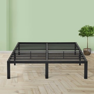 Sleeplanner 14 Inch Platform Easy Assembly Steel Bed Frame with Upgraded Frame Construction King Size