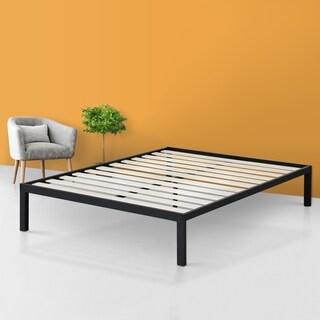 Sleeplanner 14 Inch Platform Metal Bed Frame / Wooden Slat Support Full Size