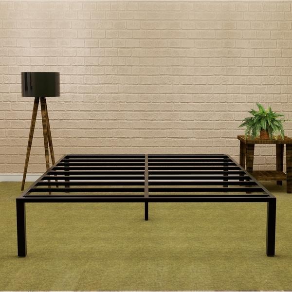 Sleeplanner 14 Inch Platform Metal Bed Frame Full Size