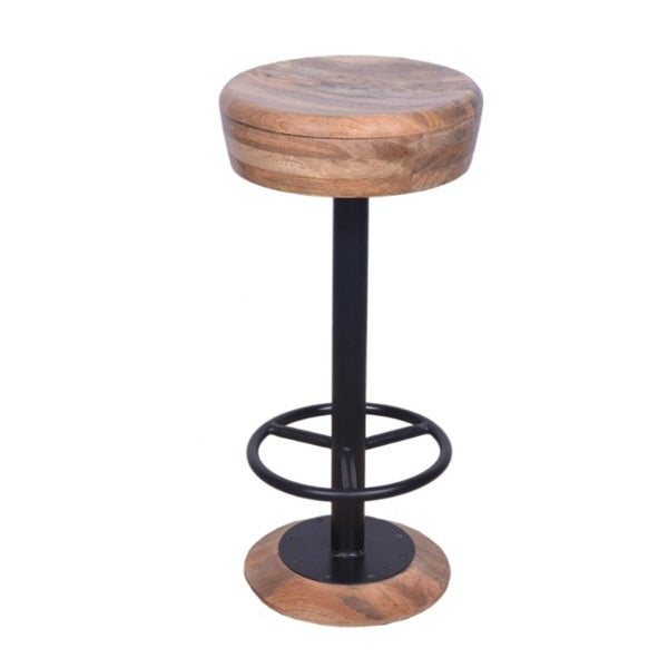 Shop Industrial Style Adjustable Swivel Bar Stool With Hoopo Footrest Free Shipping