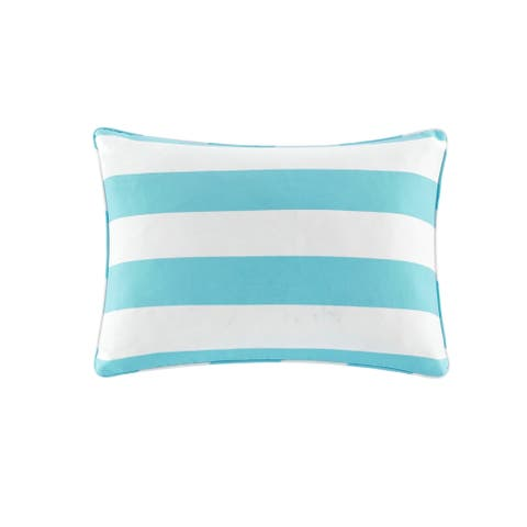 Madison Park Baros Printed Cabana Stripe 3M Scotchgard Outdoor Pillow