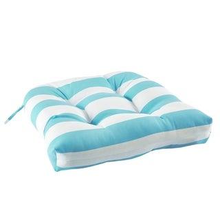Madison Park Baros Printed Cabana Stripe 3M Scotchgard Outdoor Seat Cushion