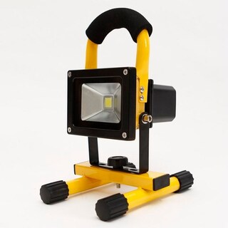 10W Spotlight Outdoor Camping Light Built-in Rechargeable Lithium Batteries (Option: Yellow)